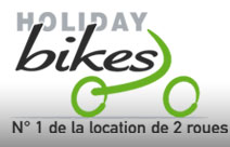 Holiday Bikes, Location de vélos, scooter, motos, sur Nice, Villeneuve-Loubet, Antibes Juan-Les-Pins, Cannes